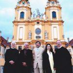 Abt_Burkhard_Paulo_Coelho_Andreas_Salcher_Stiftskirche_Melk_Waldzell_Meeting